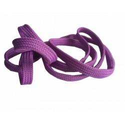 Cordón plano lila 120 cm