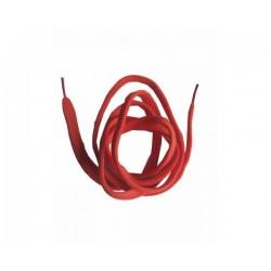 Cordón plano rojo 120 cm
