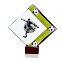 Trofeo fútbol placa de cristal